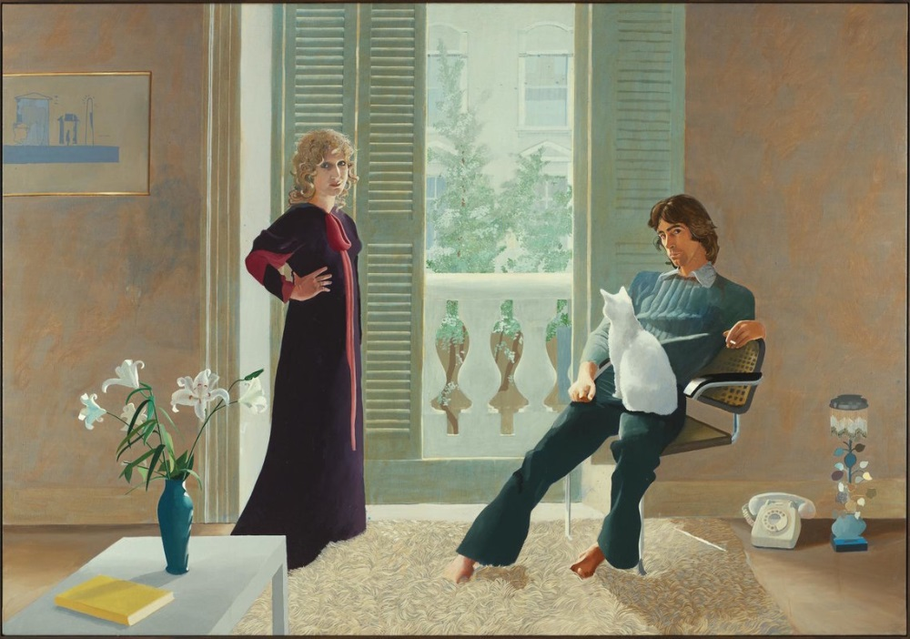 Mr and Mrs Clark and Percy by David Hockney