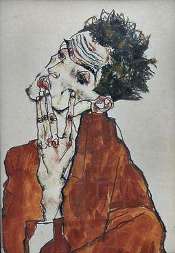 """Self Portrait"" by Schiele"