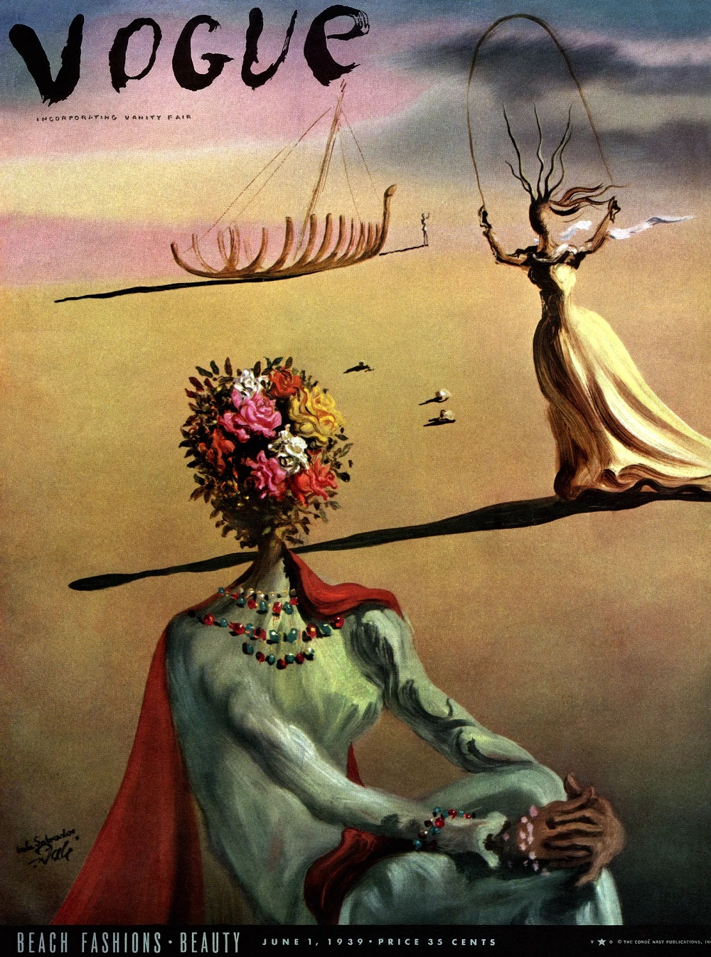 Salvador Dalí's 1939 cover for Vogue © Artists Rights Society, 2020, © Salvador Dalí Museum