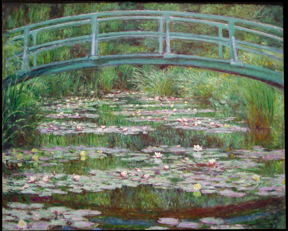 The Water Lily Pond by by Claude Monet