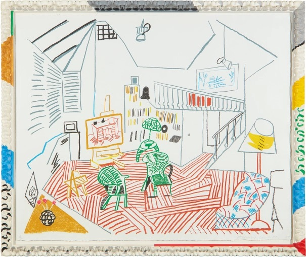 David Hockney - Pembroke Studio Interior, from Moving Focus Series