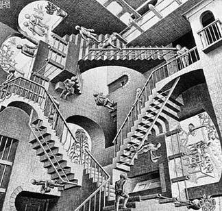 """M.C. Escher - """"Relativity"""" Stairs"""